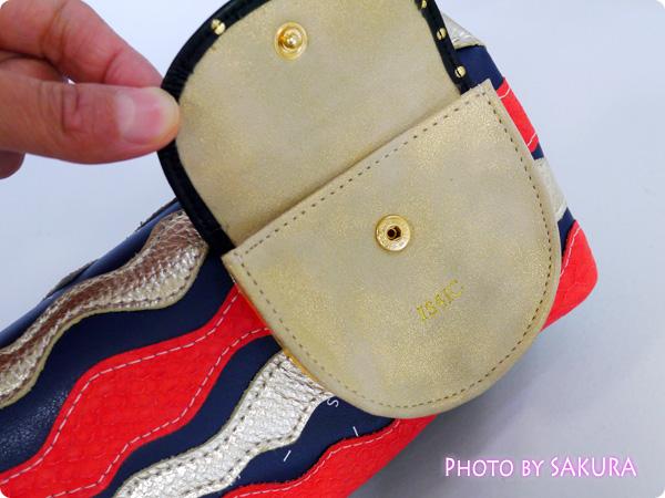 【IS4IC】二つ折り長財布 Float Flap Purse / NAVY フロントポケット1つ