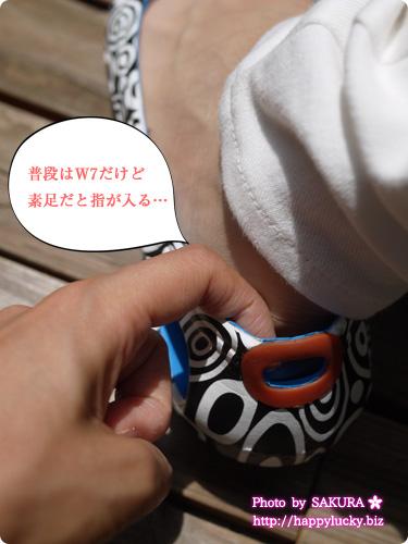クロックス (crocs)MONDO(モンド)コレクション kadee mondo circles flat w カディ モンド サークル フラット ウィメン 素足で履いたら少しゆるかった
