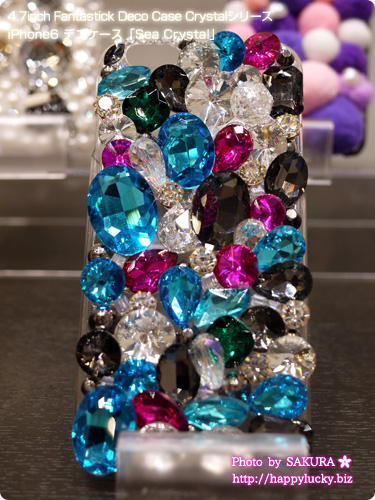 iPhone6 iPhone6 Plus iPhone5/5s対応デコケース Fantastick Deco Case Crystalシリーズ「Sea Crystal」