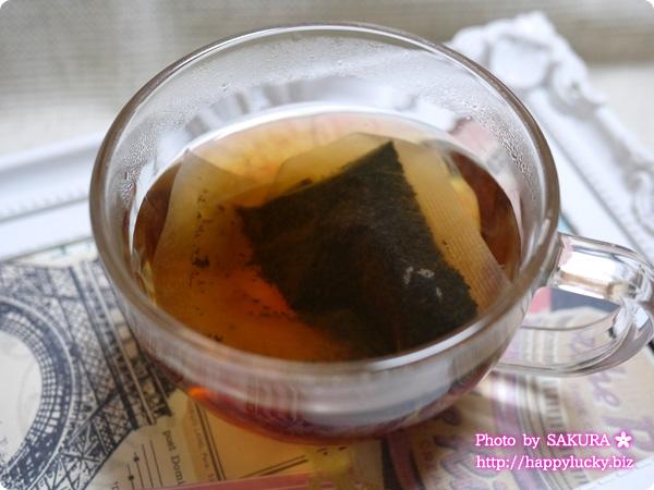 オリジナルブレンド発酵茶「スルスル茶」 お湯を入れて5分後