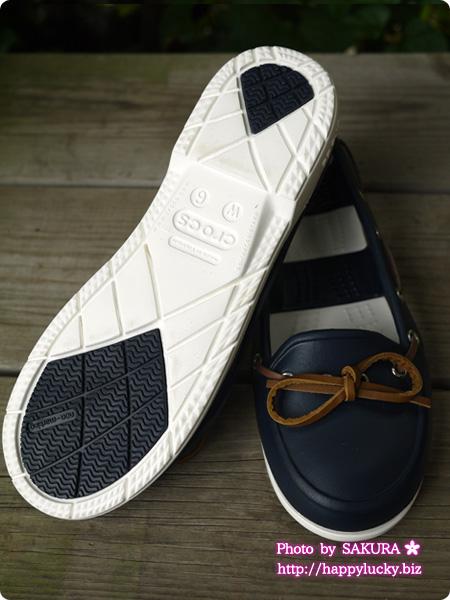 crocs クロックス beach line boat shoe w ビーチライン ボート シュー ウィメン (navy / white)靴底 アウトソール
