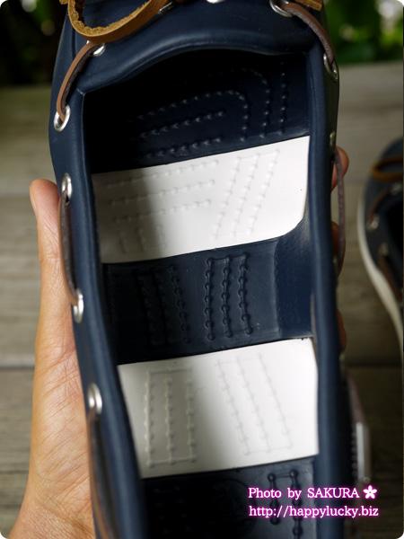 crocs クロックス beach line boat shoe w ビーチライン ボート シュー ウィメン (navy / white)中敷き インソール