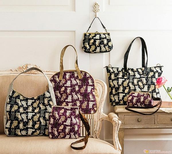 フェリシモ 猫部 【NEW】私の相棒 猫の素敵ゴブラン織りバッグの会(6回予約コレクション) 画像