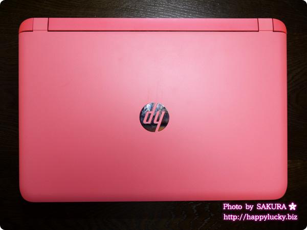 HP Pavilion 15-ab000 ピンク 全体