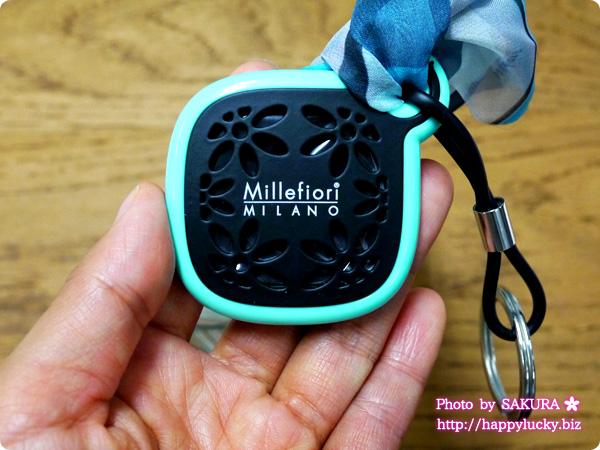 Millefiori(ミッレフィオーリ) Milledy(ミレディー)シリーズ  キーリング(ブルー)スパイシーウッド アップ