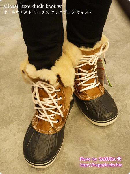 crocs クロックス allcast luxe duck boot w オールキャスト ラックス ダックブーツ ウィメン 着画