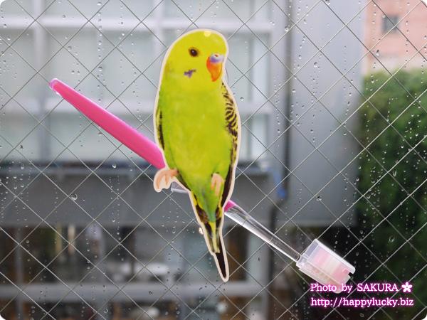フェリシモ YOU+MORE! こんなところに鳥が!? インコがとまるコードキーパーの会 歯ブラシなどを持たせることもできる