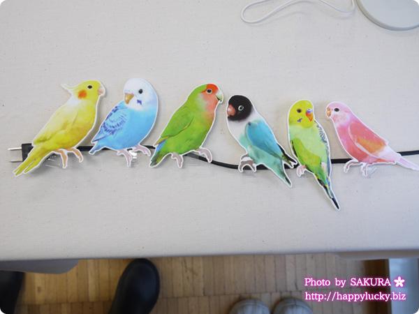 フェリシモ YOU+MORE! こんなところに鳥が!? インコがとまるコードキーパーの会 インコがコードを電線かわりに並んでいたら可愛い