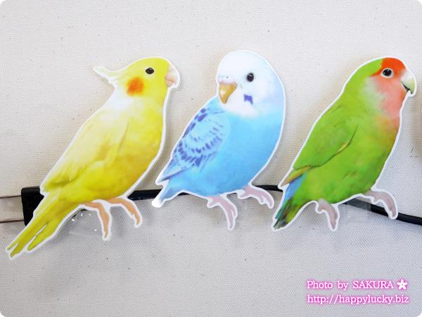 フェリシモ YOU+MORE! こんなところに鳥が!? インコがとまるコードキーパーの会 オカメインコ セキセイインコ(青) コザクラインコ