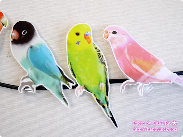 フェリシモ YOU+MORE! こんなところに鳥が!? インコがとまるコードキーパーの会 ボタンインコ セキセイインコ(緑) アキクサインコ