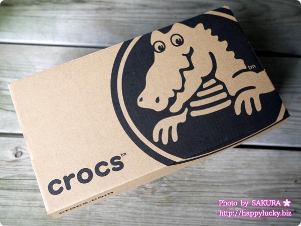 crocs クロックス marin ColorLite flat w(マリン カラーライト フラット ウィメン) ワニ柄の箱に入って届いた