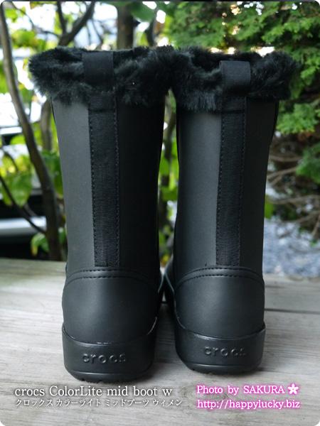 crocs ColorLite mid boot w クロックス カラーライト ミッドブーツ ウィメン  背面(後ろ)