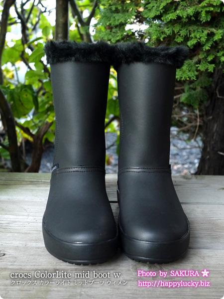 crocs ColorLite mid boot w クロックス カラーライト ミッドブーツ ウィメン  正面