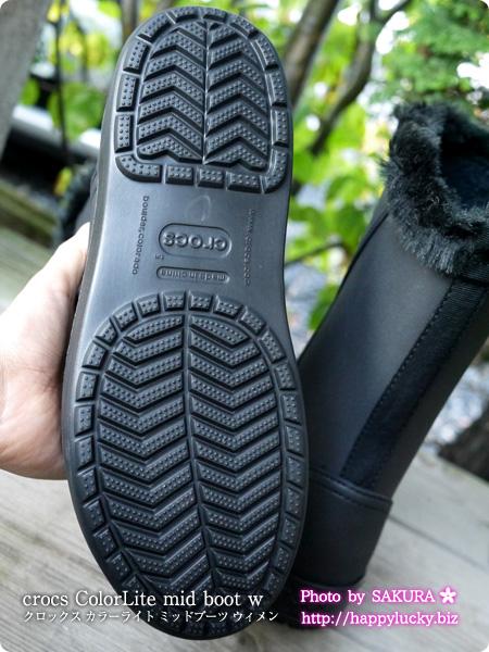 crocs ColorLite mid boot w クロックス カラーライト ミッドブーツ ウィメン  靴底