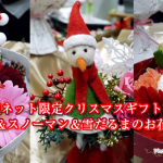 日比谷花壇ネット限定クリスマスギフトプレゼントにくまサンタ&スノーマン&雪だるまのお花はいかが?