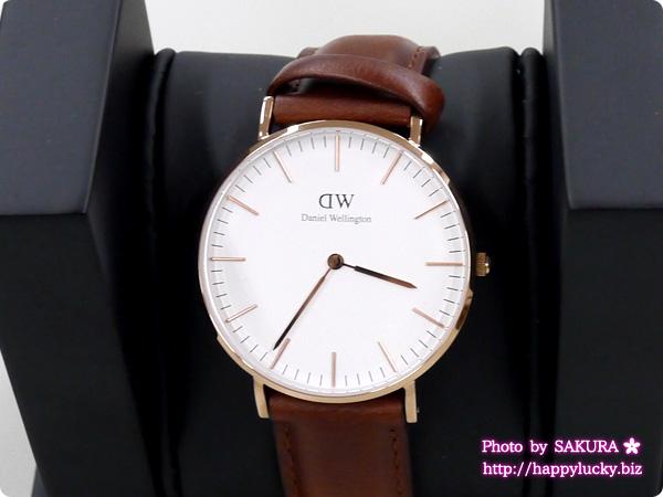 Daniel Wellington ダニエル・ウェリントン 腕時計 ブラウンのベルト アップ