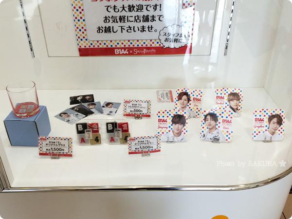 スイーツパラダイスSoLaDo原宿店 韓国の人気グループB1A4コラボ中グッズ