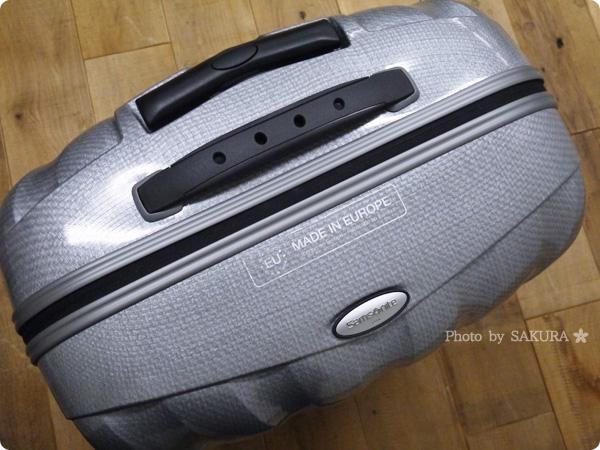 DMM.comスーツケースレンタルはSamsonite(サムソナイト)のスーツケースロゴアップ