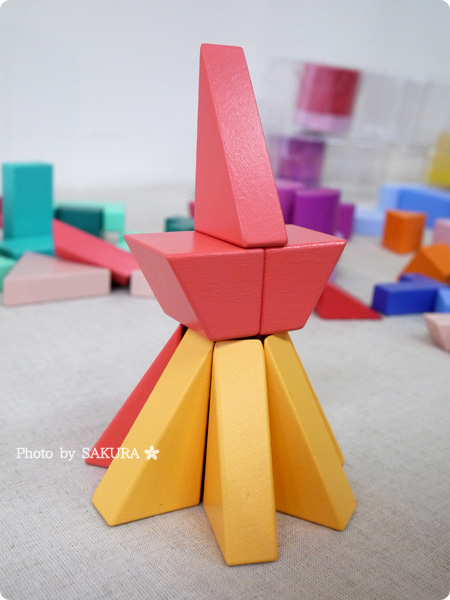 FELISSIMO フェリシモ「あたらしい「組む」つみき KUUM【クーム】(12回予約)」第2回お届け FIRE 東京タワー完成 その2