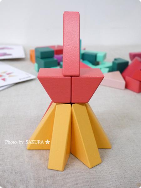 FELISSIMO フェリシモ「あたらしい「組む」つみき KUUM【クーム】(12回予約)」第2回お届け FIRE 東京タワー完成 その1