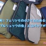 旅行で便利!フェリシモの小さくたためるリュック「ポケッタブルリュックの会」エコバッグがわりにも!