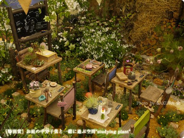 """国際バラとガーデニングショウ2016 [特別賞]お庭の中で子供と一緒に遊ぶ空間""""studying plant"""""""