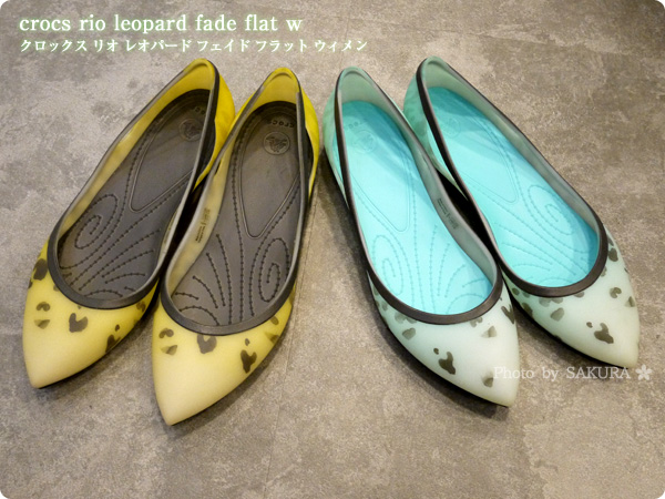 [WEB限定]crocs rio leopard fade flat w クロックス リオ レオパード フェイド フラット ウィメン 透けていく素材がかわいい2種類