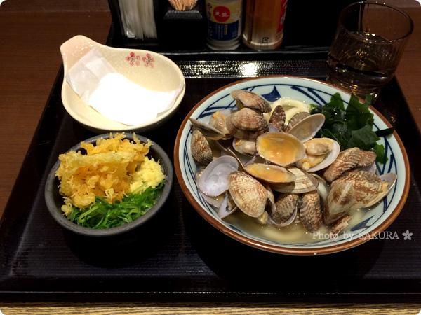 讃岐うどん専門店・丸亀製麺 あさりうどん+大根おろし
