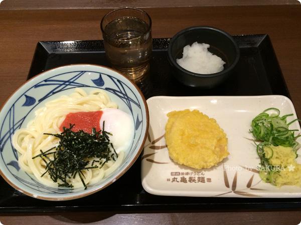 讃岐うどん専門店・丸亀製麺 明太釜玉うどん