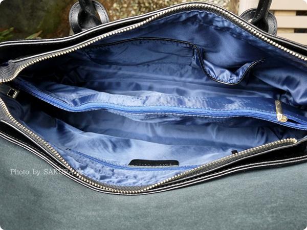 楽天市場レディースバッグ専門店ナルシ Della Stella(デラステラ)DLH47本革トートバッグ バッグの内側