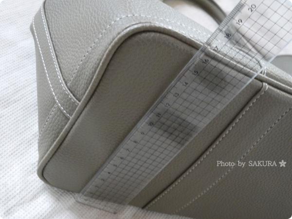楽天市場レディースバッグ専門店ナルシャ LH-Gトートバッグ(PU) ダークベージュ 横37cm x縦27cm x幅17cm ハンドル高さ:約13cm
