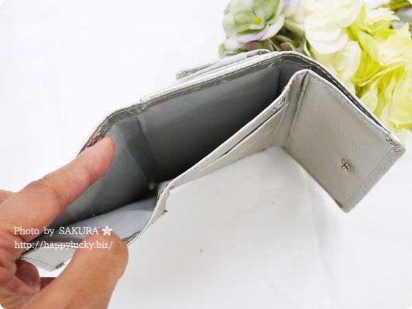 パーティードレス通販GIRL 選べる40色のガールミニ財布(三つ折り財布)  B-2型押シャンパン ローズ型押し その4
