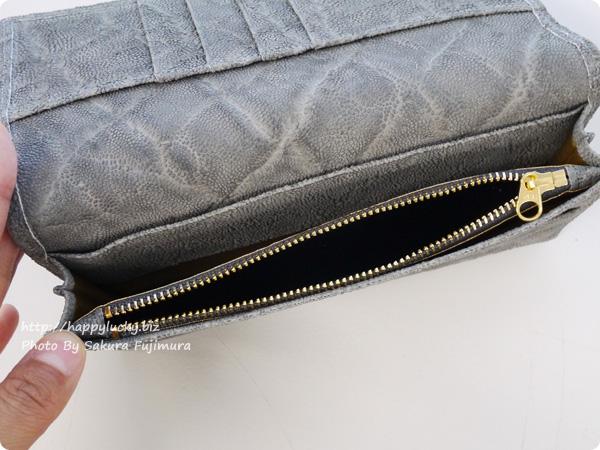 [財布屋]夢を叶える開運の象 200万円入る財布 小銭入れのファスナー