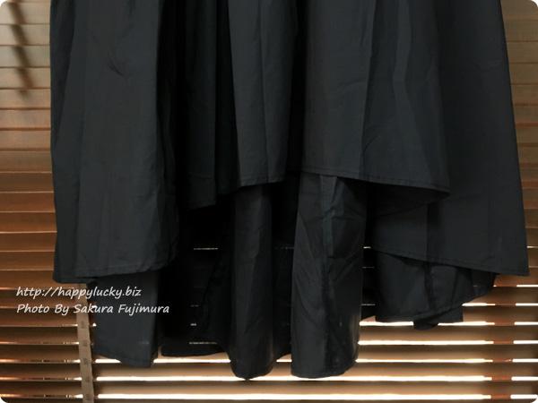 楽天市場coca(コカ)オリジナルのフィッシュテールタックスカート 裾はイレギュラーヘムスカートになっている