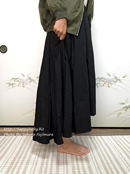 楽天市場coca(コカ)オリジナルのフィッシュテールタックスカート 着画その2