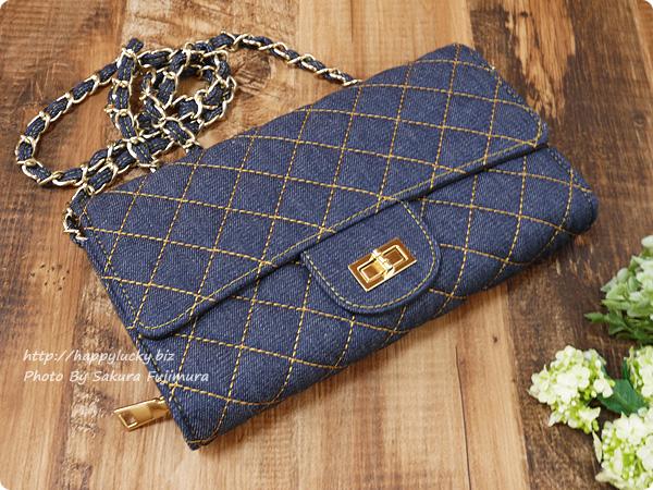 楽天市場DEVILISH TOKYO バッグ+ポシェット一体型 キルティングウォレットチェーンバッグ 全体