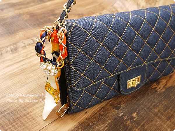 楽天市場DEVILISH TOKYO バッグ+ポシェット一体型 キルティングウォレットチェーンバッグにジュエリーチェーンブレスレットをつけてみた