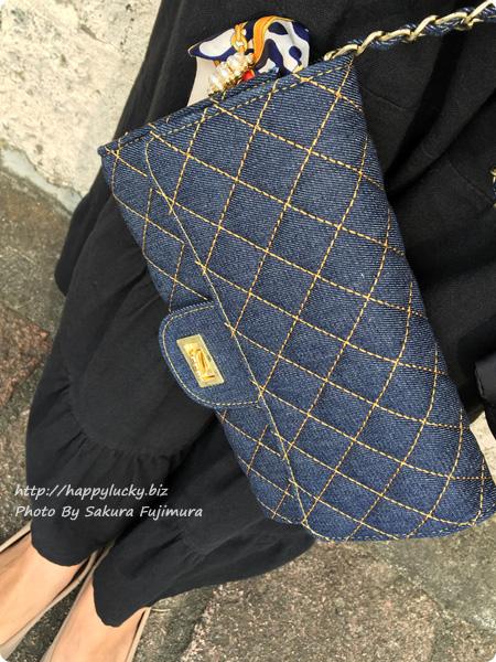 楽天市場DEVILISH TOKYO キルティングウォレットチェーンバッグ 使ってみた その2