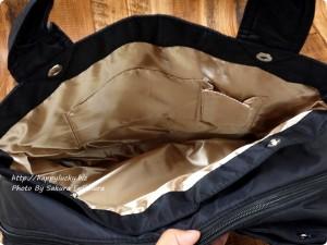 楽天市場ルルクチュール 大容量ナイロンマザーズバッグ 両サイドの仕切り その1