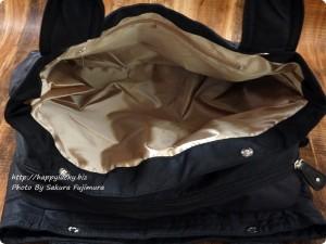 楽天市場ルルクチュール 大容量ナイロンマザーズバッグ 両サイドの仕切り その2