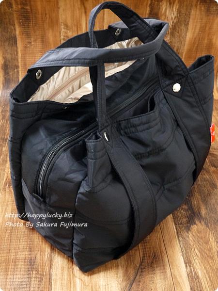 楽天市場ルルクチュール 大容量ナイロンマザーズバッグ 実際に荷物をいれたところ その2