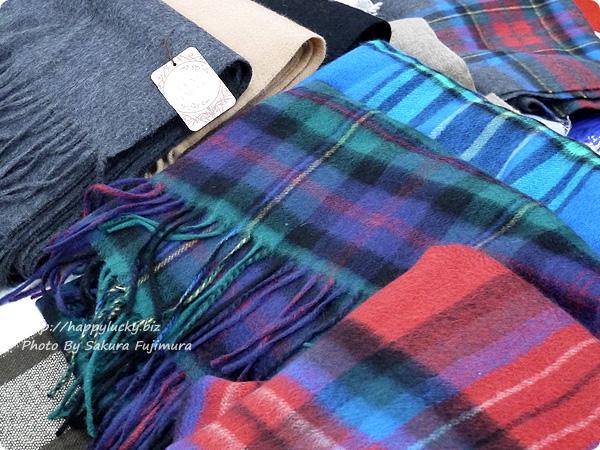 楽天市場ストール・傘専門店 macocca カラバリ25色の無地やチェックの100%カシミヤストール 他の一部のカラー