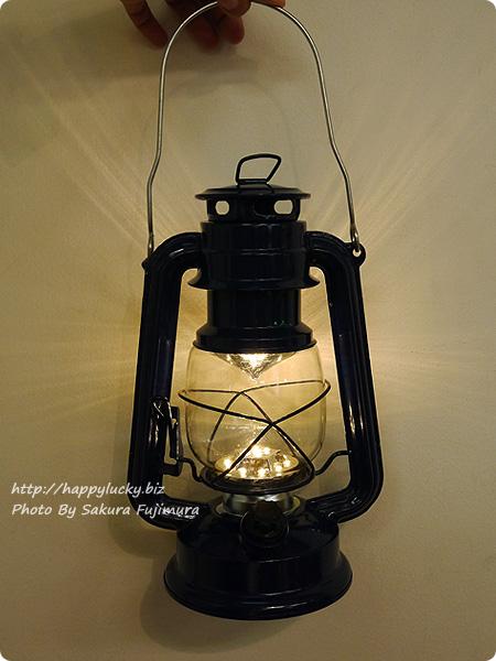 FELISSIMO フェリシモ「まるで本物の灯(あか)りのよう レトロな風合いのLEDランタンの会」 ネイビー