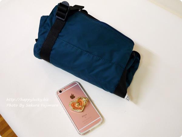 フェリシモ レジかご用バッグがスマートに変身! 大量買いもらくらく ビッグなリュックの会 畳んだ状態