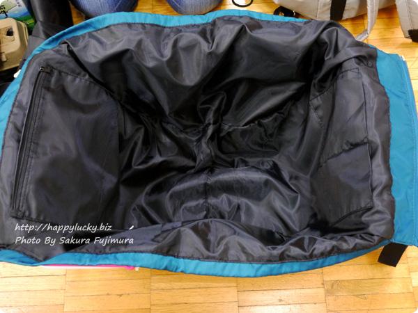 フェリシモ レジかご用バッグがスマートに変身! 大量買いもらくらく ビッグなリュックの会 レジカゴに装着した図