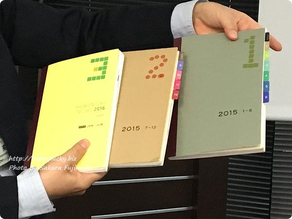 古東部長はほぼ日手帳の「カズン」分冊された冊子に数字を振る