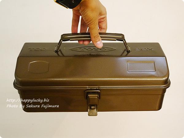 フェリシモ「老舗工場で作られる レトロなスチール工具箱〈珈琲ブラウン〉」
