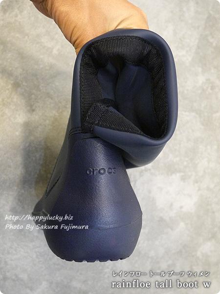crocsクロックス2016秋冬新作レインブーツ rainfloe tall boot w レインフロー トール ブーツ ウィメン(ネイビー) 柔らかい素材