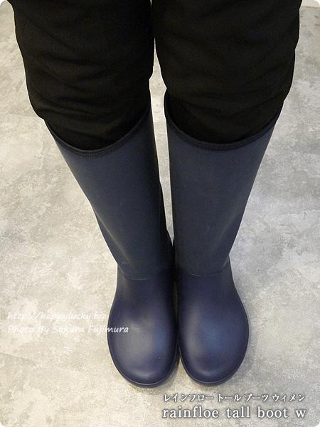 crocsクロックス2016秋冬新作レインブーツ rainfloe tall boot w レインフロー トール ブーツ ウィメン(ネイビー) 着画全体