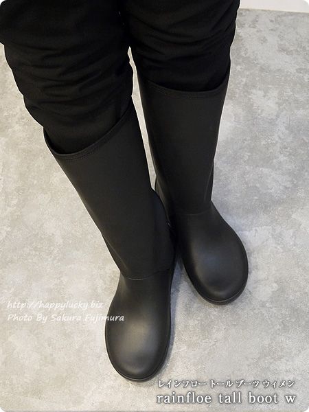 crocsクロックス2016秋冬新作レインブーツ rainfloe tall boot w レインフロー トール ブーツ ウィメン(ブラック) 着画全体